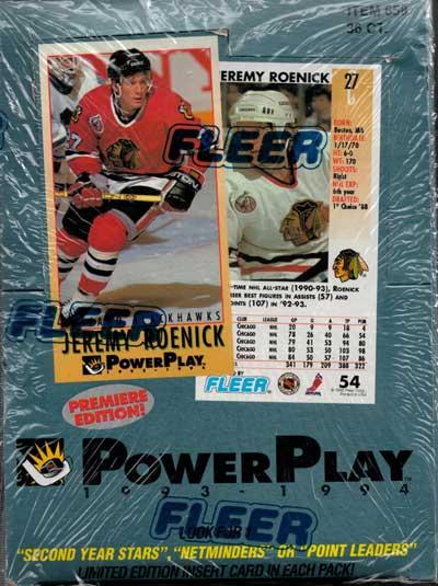 Sealed Box 1993-94 PowerPlay (Tall cards)
