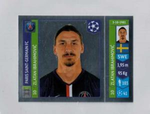 Zlatan Ibrahimovic, Panini Stickers Champions League 2014-15 #444