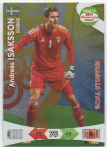 Goal Stoppers, 2013-14 Adrenalyn Road to the World Cup, Andreas Isaksson
