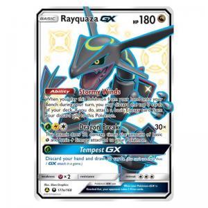 JUMBO - Promo Cards - Rayquaza GX - SM177a/168 - Shiny Full Art (Stort kort)