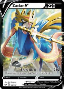 JUMBO Pokemon - Zacian V - 138/202 - JUMBO Promo (Stort Kort)