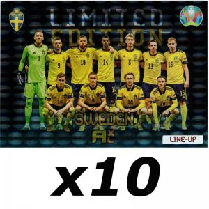10 x XXL Adrenalyn Euro 2021 (Kick Off) - Line Up Sweden - XXL Limited Edition (Large cards)