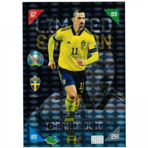 XXL Adrenalyn Euro 2021 (Kick Off) - Zlatan Ibrahimovic (Sweden) - XXL Limited Edition (Large card)