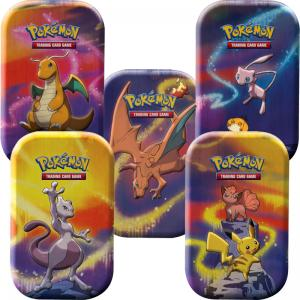 Pokémon, Kanto Power Mini Tin x 5 (Mewtwo, Charizard, Dragonite, Mew & Pikachu)
