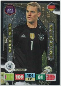 Manuel Neuer - Germany, Limited Edition, Panini Road To World Cup Russia 2018