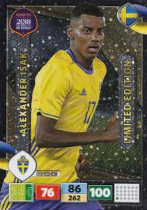 Alexander Isak - Sweden, Limited Edition, Panini Road To World Cup Russia 2018