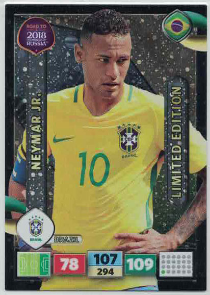 Neymar Jr. - Brazil, Limited Edition, Panini Road To World Cup Russia 2018