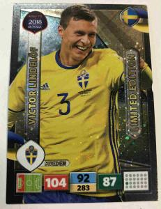 Victor Lindelöf / Lindelof - Sweden, Limited Edition, Panini Road To World Cup Russia 2018