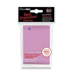 Small deck protector sleeves, pink, 60ct - Ultra Pro