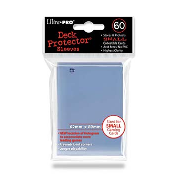 Small deck protector sleeves, transparent, 60ct - Ultra Pro