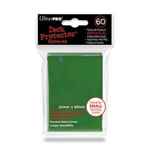 Small deck protector sleeves, green, 60ct - Ultra Pro