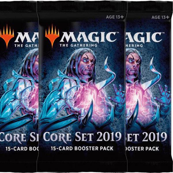 Magic, Core Set 2019, 3 Boosters