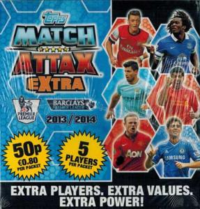 Sealed Box, Topps Match Attax EXTRA Premier League 2013-14
