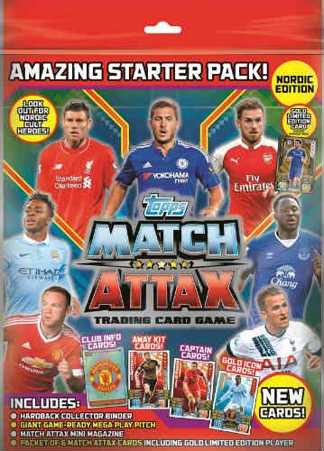 Starter Match Attax Premier League 2015-16 Nordic Edition