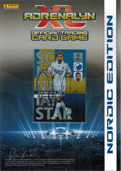 Autografkort Scandinavian Star, 2013-14 Adrenalyn Champions League, Olof Mellberg