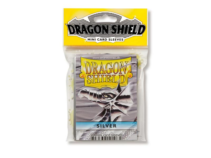 Mini-size sleeves (YGO) - Dragon Shield - Silver (50)