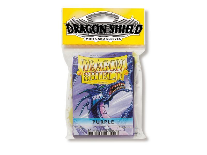 Mini-size sleeves (YGO) - Dragon Shield - Purple (50)