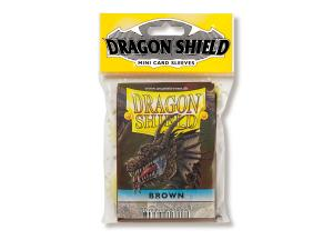 Mini-size sleeves (YGO) - Dragon Shield - Brown (50)