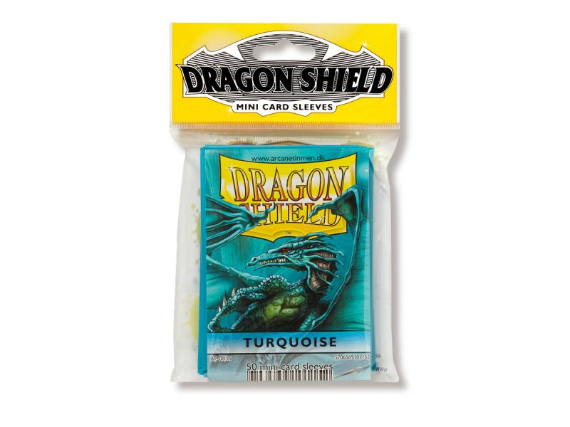 Mini-size sleeves (YGO) - Dragon Shield - Turquoise (50)