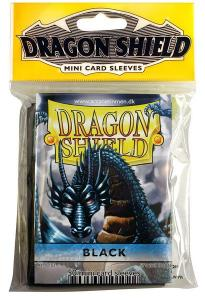 Mini-size sleeves (YGO) - Dragon Shield - Black (50)