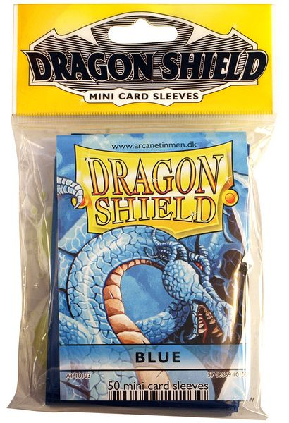 Mini-size sleeves (YGO) - Dragon Shield - Blue (50)