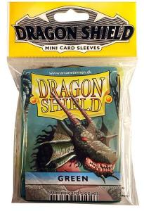 Mini-size sleeves (YGO) - Dragon Shield - Green (50)