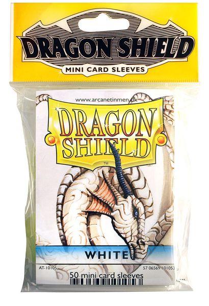 Mini-size sleeves (YGO) - Dragon Shield - White (50)