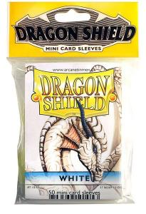 Mini-size sleeves (YGO) - Dragon Shield - White (50)