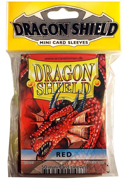 Mini-size sleeves (YGO) - Dragon Shield - Red (50)