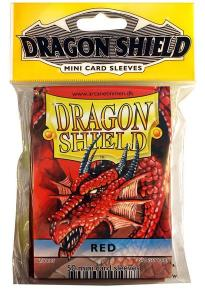 Mini-size sleeves (YGO) - Dragon Shield - Red (50)