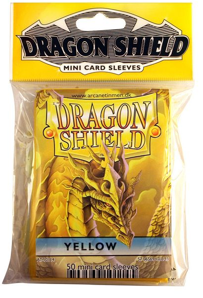 Mini-size sleeves (YGO) - Dragon Shield - Yellow (50)
