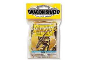 Mini-size sleeves (YGO) - Dragon Shield - Gold (50)