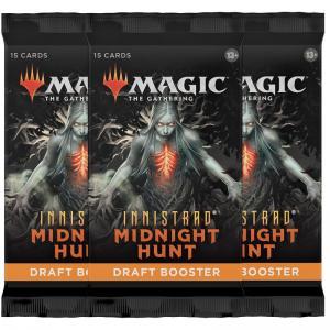 FÖRKÖP: Magic, Innistrad Midnight Hunt, 3 Draft Booster (Preliminär release 24:e september 2021)