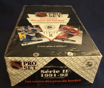 Sealed Box 1991-92 Pro Set French Serie 2