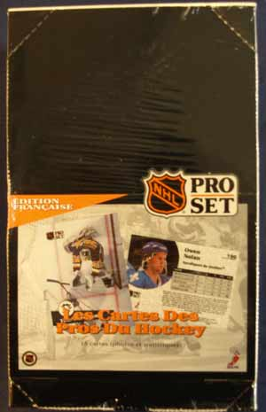 Sealed Box 1991-92 Pro-Set s.1, French