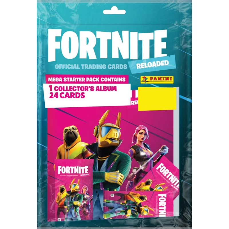 1 Mega Starter Pack, 2020 Panini Fortnite Trading Cards Reloaded (Serie 2)