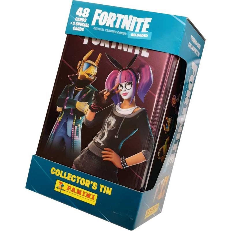 1 Mega Tin (51 kort totalt) 2020 Panini Fortnite Trading Cards Reloaded (Serie 2)
