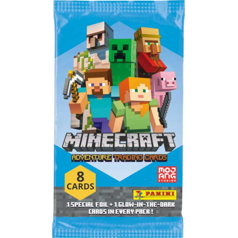 Minecraft Adventure Trading Cards (Panini), Pack (8 cards)