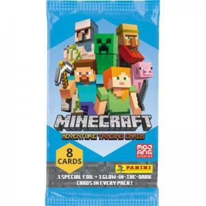 Minecraft Adventure Trading Cards (Panini), Paket (8 kort)