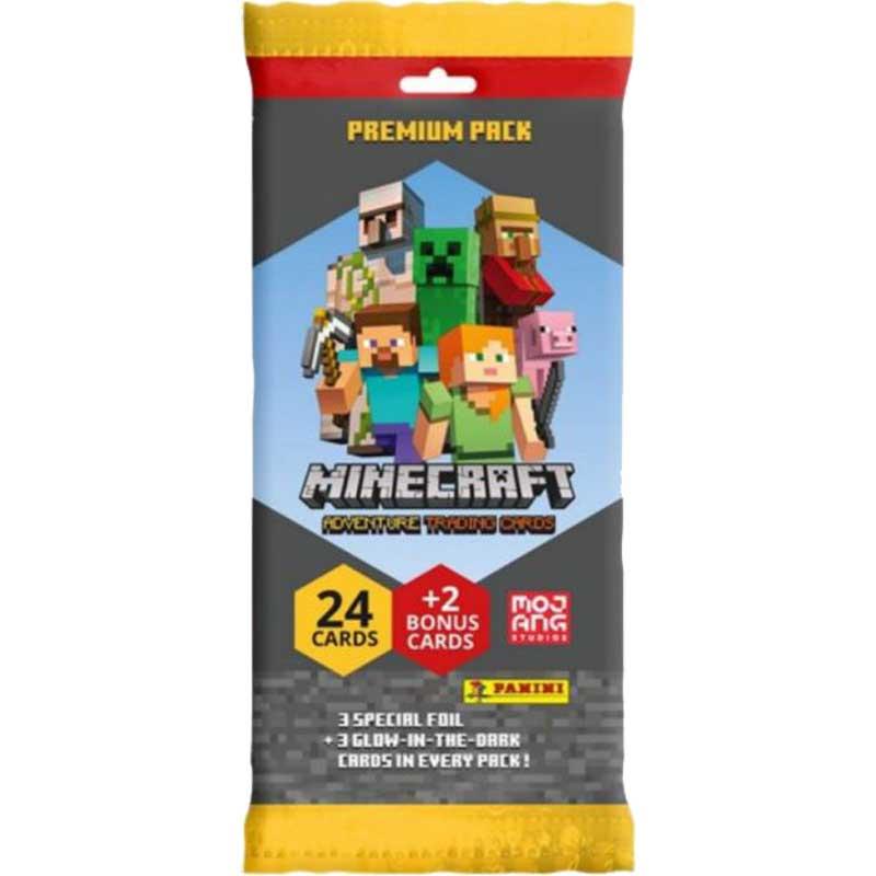 Minecraft Adventure Trading Cards (Panini), Premium Pack (24 + 2 cards)