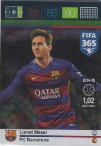 Goal Machine, 2015-16 Adrenalyn FIFA 365 #160 Lionel Messi