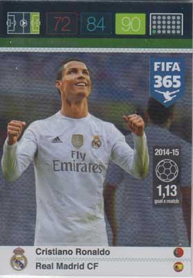 Goal Machine, 2015-16 Adrenalyn FIFA 365 #214 Cristiano Ronaldo