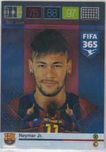 Icon, 2015-16 Adrenalyn FIFA 365 #307 Neymar Jr.