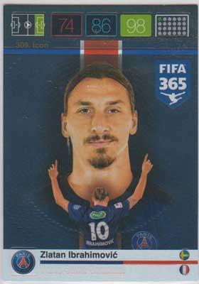 Icon, 2015-16 Adrenalyn FIFA 365 #309 Zlatan Ibrahimovic