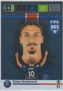 Icon, 2015-16 Adrenalyn FIFA 365 #309 Zlatan Ibrahimovic