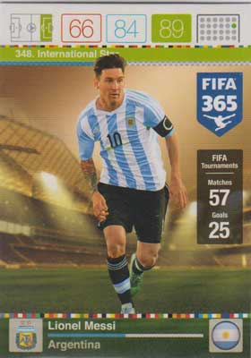 International Star, 2015-16 Adrenalyn FIFA 365 #348 Lionel Messi