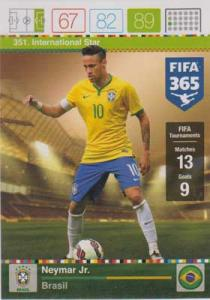 International Star, 2015-16 Adrenalyn FIFA 365 #351 Neymar Jr.
