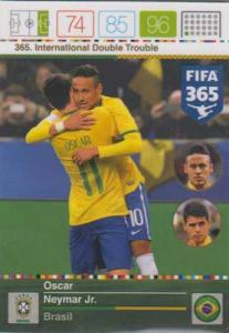 International Double Trouble, 2015-16 Adrenalyn FIFA 365 #365 Oscar / Neymar Jr.