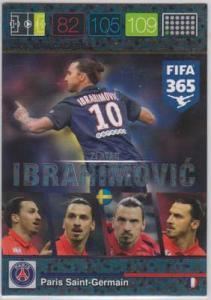 Ibracadabra, 2015-16 Adrenalyn FIFA 365 #390 Zlatan Ibrahimovic