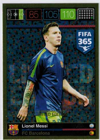 Limited Edition, 2015-16 Adrenalyn FIFA 365 Lionel Messi